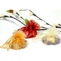 60 x süße Organza Geschenk Beutel 3 Farben