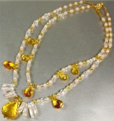 1 x Schmuckset Halskette und Ohrhänger