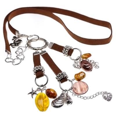 8 x Halsketten mit Kunstlederband