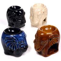 "12 x Keramik Duft/Aromalampe ""ELEFANT"""