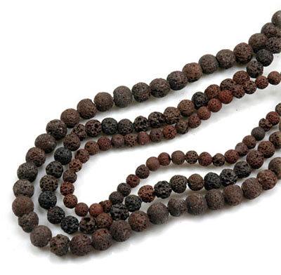 3x Strang mystische Lava Perlen