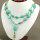1x exotische Halskette aus grünen Howlith