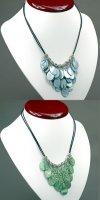 6x zauberhafte Halsketten mit echtem Perlmutt Perlen