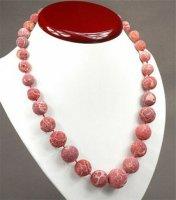 1 x wunderschöne Halskette aus Korallenperlen