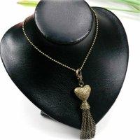 10x Halsketten mit Metallanhänger in Herzform