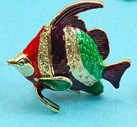1x beeindruckende Schmuckschatulle Fisch
