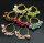 12 paar Ohrringe mit Kunstperlen