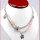2 Stück  elegante Rosenquarz Halsketten mit Kristallperlen
