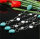 3x zauberhafte Halsketten mit türkisem Howlith