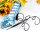 1 x Verkaufsständer Pumps Schmuckständer blau Pailetten