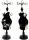1 x eleganter Schmuckhalter aus Holz - schwarz