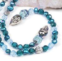 """1 x trendy Halskette mit versch. Perlen - """"Totenkopf"""""""