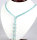 8 x filigrane Halsketten aus Glas- und Zuchtperlen