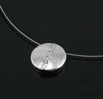 """6 x schöne Designer Halsketten mit Anhänger """"Rund"""""""