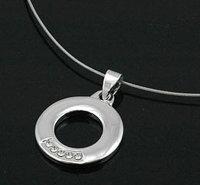 """6 x schöne Designer Halsketten mit Anhänger """"Kreis"""""""