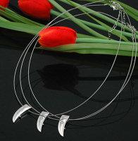 """6 x schöne Designer Halsketten mit Anhänger """"Zahnform"""""""