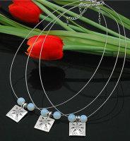 """6 x schöne Designer Halsketten mit Anhänger """"Perlen"""""""