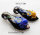 12 x edle Lampwork Glas Anhänger mit Krebs 66x34x17mm