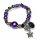 8x elastische Armbänder Naturstein Glaslperlen