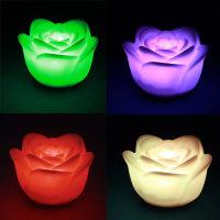 LED Stimmungslicht Nachtlicht mit Farbwechsel Rose