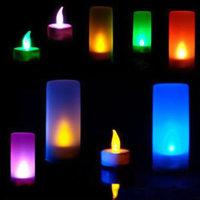 LED Stimmungslicht Nachtlicht mit Farbwechsel Flackerkerze