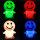 LED Stimmungslicht Nachtlicht mit Farbwechsel Smiley