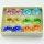12x Glasringe Motiv Blume 3D  in 6 verschiedene Farben sortiert
