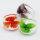 12x Glasringe 3D Blumen in 6 verschiedene Farben sortiert