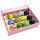12 x edle verschiedene Glasringe - verschiedene Muster sortiert in Box