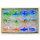 12x edle Glasringe mit Blumenmuster 3D - Lieferung in Box