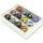 12x moderne Glasringe in 12 Farben sortiert