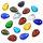 30 x Glasanhänger in vielen Farben sortiert