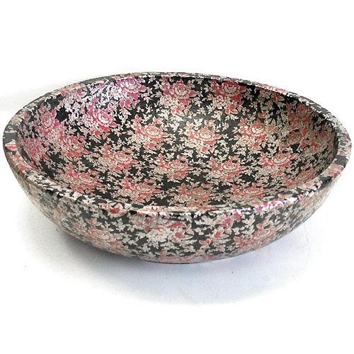Keramik Schale Black-Rose 31 cm - schwere Qualität