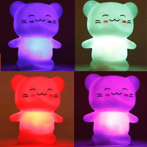 """LED Stimmungslicht Nachtlicht mit Farbwechsel """"Katze"""""""
