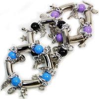 Moderne Armbänder mit Zugband 3 Farben sortiert