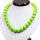 Modische Halskette mit Opaque Acryl Perlen ca. 48 cm - Magnetverschluss