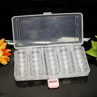 Sortierbox/Perlenbox-Set mit 25 verschraubbare Dosen