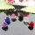 6 paar Ohrstecker im Set in 6 Farben sortiert Motiv Herz