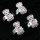 24 x Metallringe mit Zirkonia Steine in 4 Farben sortiert