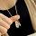 12x Exklusive Halskette mit 2 Freundschaftsringen - Kette  60 cm