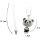 Exklusive Halskette mit Pandabärchen -  Kette ca. 60 cm