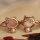 24x Ringe mit rosèfarbenen oder perlmuttfarbenen Stein