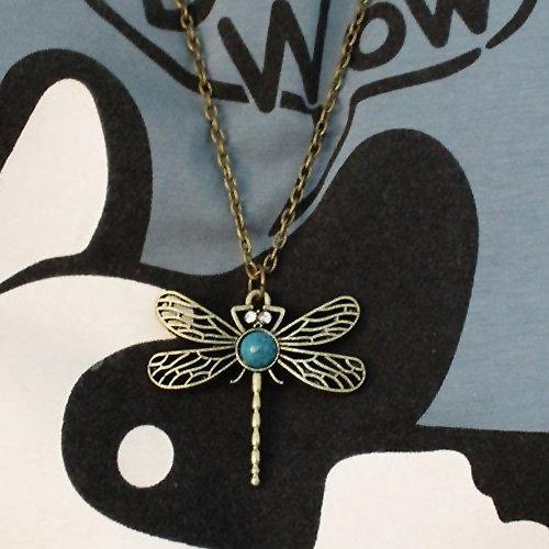 12x Exklusive Halskette mit  Libellenanhänger -  Kette ca. 60 cm- SONDERPREIS