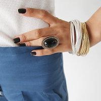 12x Ring mit verschiedenfarbigen ovalem Kopf