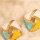 Ohrsteckerpaar in abgerundeter, quatratischer Form - zweifarbig
