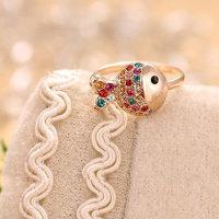 Ringe mit sehr schön gestaltetem Fisch