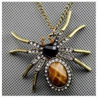 12x Exklusive Halskette mit Spinnenanhänger - Kette ca. 60 cm - Sonderposten