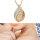 Exklusive Halskette mit Anhänger in Tropfenform -  Kette ca. 60 cm