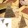 Ring mit Kopf in Triangelform antik-silber