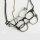 Exklusive Halskette mit Retrobrille -  Kette ca. 60 cm